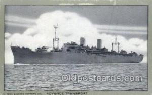 Advance Transport Military Ship Old Vintage Antique Post Card Postcards  Adva...