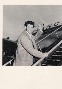 Gerard Philippe Boarding Air France Plane in 1958 Postcard