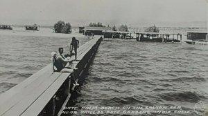 California Indio c1944, Date Palm Beach, Salton Sea, Shields Date Gardens RPPC