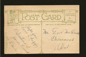 Vintage A LOVE TOKEN Ornate Stedman Bros Brantford Canada Postcard