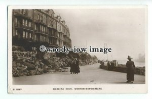 tq1683 - Somerset - Early View along Madeira Cove, Weston-Super-Mare - postcard