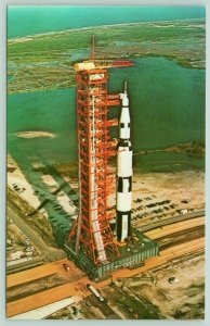 Kennedy Space Center Florida~NASA~Apollo Saturn-V~Aerial View~1970s