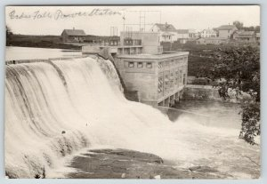 Cedar Falls Wisconsin~Power Station~X on Our Home~Houses~1915 RPPC