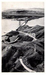 California   San Francisco , Aerial view Golden gate bridge