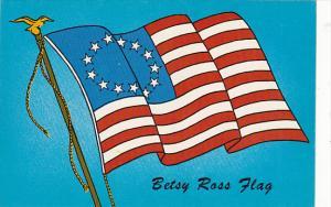 Betsy Ross Flag Bicentennial Stick Em Peel Backing