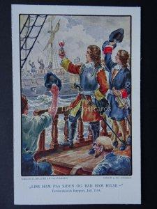 Denmark (5) PETER TORDENSKJOLD Naval Heroe Billeder Fra Hans Liv - Old Postcard