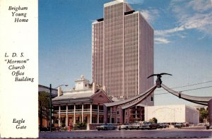 Utah Salt Lake City Brigham Young Home Mormon Church Office Building and Eagl...