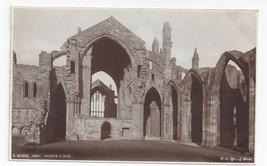 UK Scotland Melrose Abbey Vintage H. M. Office of Works Real Photo Postcard