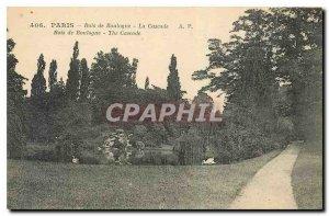 Old Postcard Paris Bois de Boulogne La Cascade
