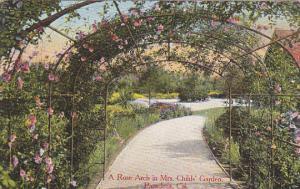PASADENA, California, PU-1908; A Rose Arch In Mrs. Childs' Garden