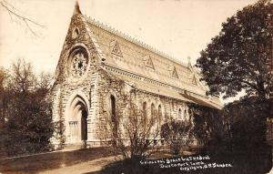 Davenport Iowa Episcopal Grace Cathedral Real Photo Antique Postcard K27083