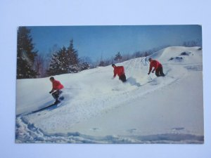 Ski Patrol on Cranmore Mountain, North Conway, NEW HAMPSHIRE Chrome Postcard
