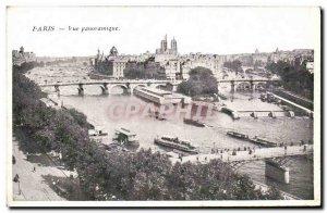 Old Postcard Paris Panoramic