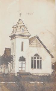 Bartlett Kansas~Presbyterian Church~1908 Real Photo Postcard~RPPC