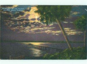 Linen RIVER SCENE Daytona Beach Florida FL AE6183