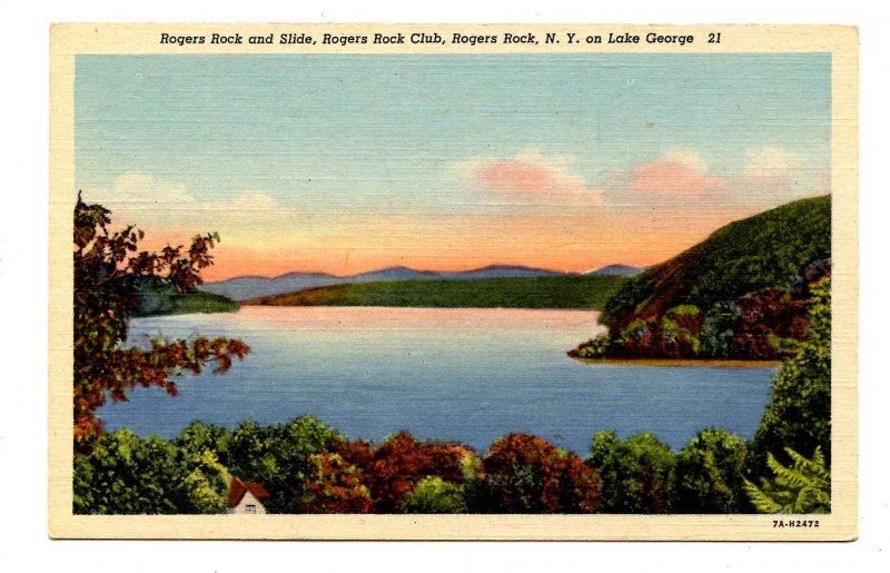 NY - Lake George. Rogers Rock & Slide