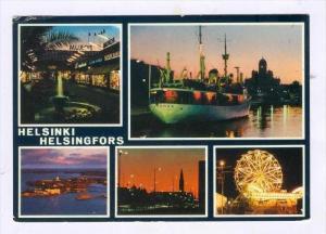 Multi-Views, Aranda-Steamer, Waterfountain, Fair Ride, Helsinki Helsingfors, ...