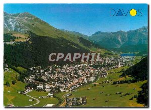 Modern Postcard Davos und mit Schatzalp Strela Alp