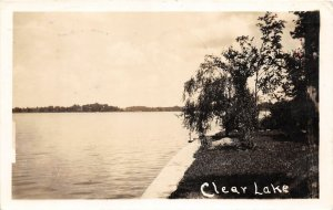 F54/ Fremont Indiana RPPC Postcard 1935 Clear Lake Shore
