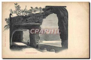 Postcard Old Axenstrasse Switzerland Insurance Company Ein Tausend Franken Wi...