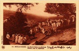 CPA AK MOULAY IDRISS - Les fils du Sultan en pelerinage MAROC (797347)