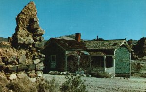 Rhyolite, Nevada, NV, Bottle House, Ghost City, Chrome Vintage Postcard g5463