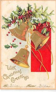 Damaged Card Christmas Writing on back crease left bototm corner