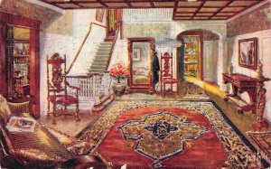 JAMES A. SCULLY House Furnisher Manchester, NH Interior Decoration 1912 Postcard