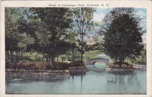 New York Syracuse Scene In Onondaga Park 1924