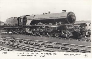 LMS 79 No 6207 at Crewe Railway Station in the 1930s Train Postcard