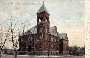 Milton Pennsylvania Hepburn Street School Bldg Antique Postcard K56689