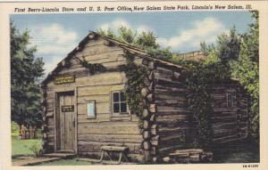 LINCOLN'S NEW SALEM, Illinois, 1930-1940's; First Berry-Lincoln Store And U.S...