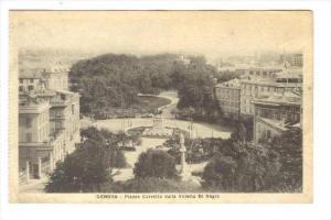 Genova, Italy , 00-10s : Piazza Corvetto dalla Villetta Di Negro