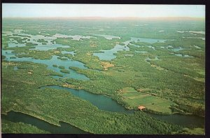 Ontario ~ Aerial View Scenic RIDEAU LAKES Route Devil Lake 1950s-1970s