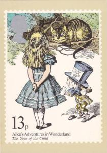 AS: Alice's Adventures in Wonderland, The Year of the Child, reproduced stamp...