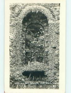 Pre-1927 rppc EAST WINDOW AT THE GROTTO West Bend Iowa IA r6898