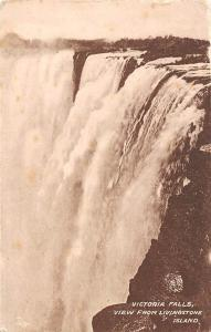 Zimbabwe Rhodesia, Victoria Falls, View from Livingstone Island