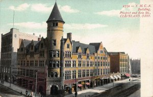 Y.M.C.A. Building, Prospect & Erie St., Cleveland, Ohio, Early Postcard, Unused