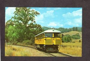 CA The Skunk Railroad Train Railway Ft Fort Bragg Willits California Postcard
