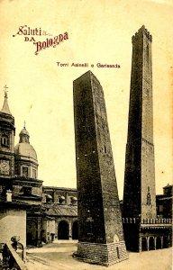 Italy - Bologna. Towers of Asinelli & Garisenda