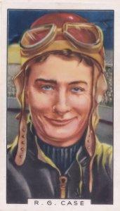 RG Case Australian Queensland Speedway Champion 1930s Cigarette Card