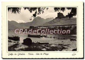 Modern Postcard Corsica On The Beach In Gulf Giralata