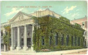 Tootle Lemon Bank Building in St. Joseph, Missouri, MO, 1911 Divided Back