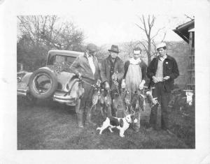 Hunters With Dog Quail Rabbit Catch Real Photo Antique Postcard K7876485