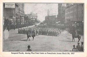 Washington DC Inaugural Parade West Point Cadets 1917 Vintage Postcard AA21078