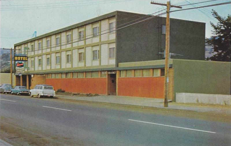 Exterior,  The Village Hotel,  North Kamloops,   B.C.,  Canada,   40-60s