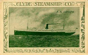 Clyde Steamship Co. - SS Lenape