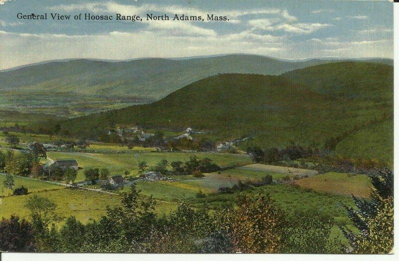 North Adams,Mass., General View Of Hoosac Range