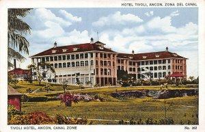 The Lobby, Hotel Tivoli, Ancon, Canal Zone, Panama, Early Postcard, Unused