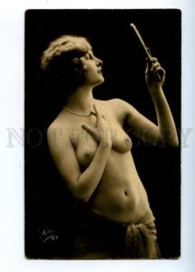 176059 Semi-NUDE Woman BELLE Mirror Vintage Real PHOTO LEO #87